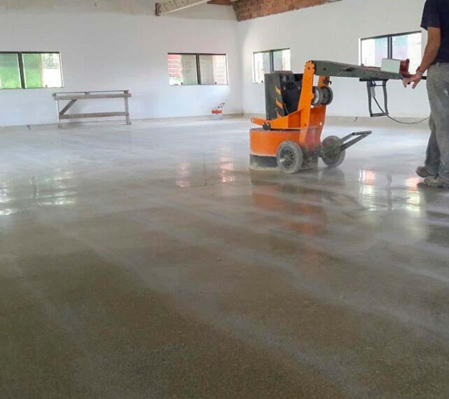 polimento de piso com a lapidadora fp9 da FINITI