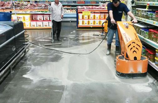 lapidação de piso